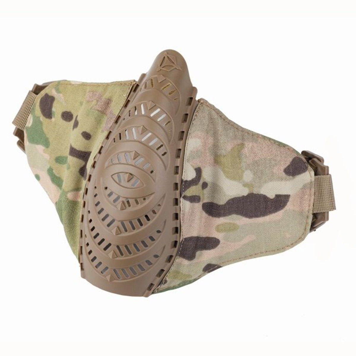 This is a photo of a multicam mask, spread out like a bird